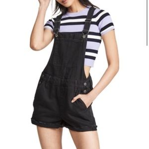 Madewell Adirondack Short Overalls in Black